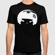 Kokeshi Head Logo Design MEDIUM Black Mens Fitted Tee