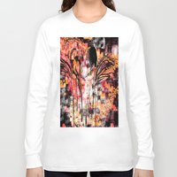 angels Long Sleeve T-shirts featuring Visiting Angels by Jessielee