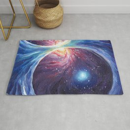 Galactic magnetic field painting Rug