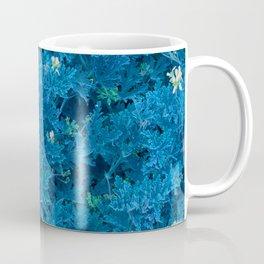 Blue fluorescent indigo flowers Coffee Mug