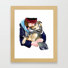 Humanity is love Framed Art Print