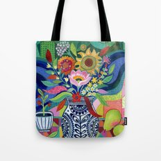 Late Summer Blooms Tote Bag