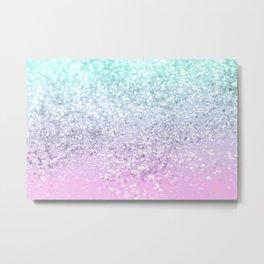 Mermaid Girls Glitter #2 (2019 Pastel Version) #shiny #decor #art #society6 Metal Print