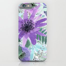 Spring Floral with Purples and Blues iPhone Case