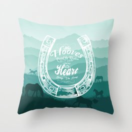 Horse Quote Typography - Horse Hoove Shoe quote - Horse lover Throw Pillow