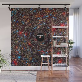 black hole map of the universe Wall Mural