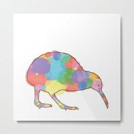 Kolorful Kiwi Metal Print