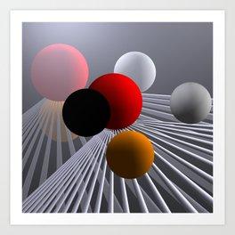 converging lines again -2- Art Print