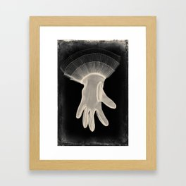 X-Ray of Vintage Glove Framed Art Print