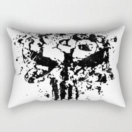 Concrete Punish Skull Rectangular Pillow
