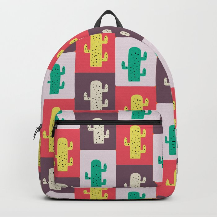 Rectangle cacti Backpack