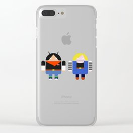 Androids 17 & 18 Clear iPhone Case