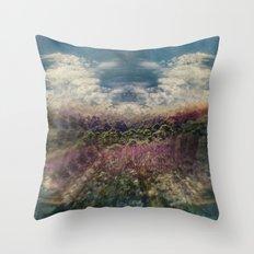 Forest Island Throw Pillow