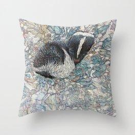 Winter Flower Throw Pillow