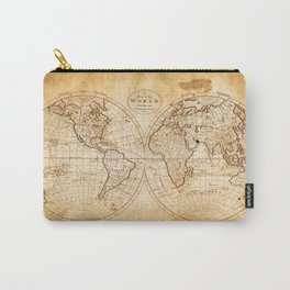 World in Hemispheres Carry-All Pouch