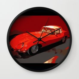 Car | Cars | Vintage 1969 Jaguar  | Nadia Bonello Wall Clock