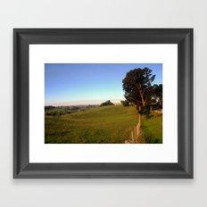 Along a rural Road Framed Art Print