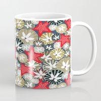 starfish Mugs featuring Starfish by Angela Stevens