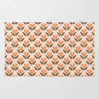 scandinavian Area & Throw Rugs featuring RETRO SCANDINAVIAN by Je Suis un Lapin
