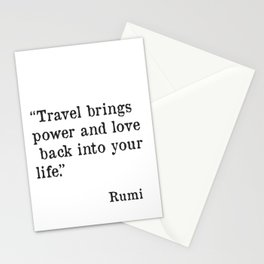 Travel quote by Rumi Stationery Cards