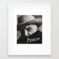 picasso Framed Art Prints featuring picasso by Olivia Yuen