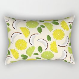 Lime Lemon Coconut Mint pattern Rectangular Pillow