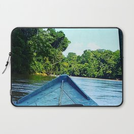 Boat on the Amazonian River Laptop Sleeve