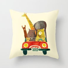 Visit the zoo Throw Pillow