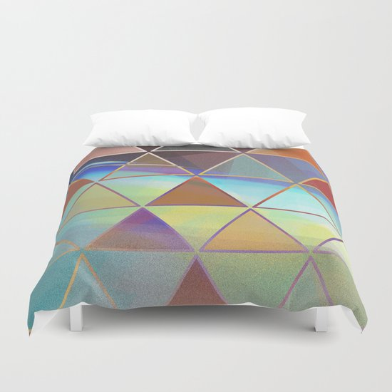 triangle wave Duvet Cover