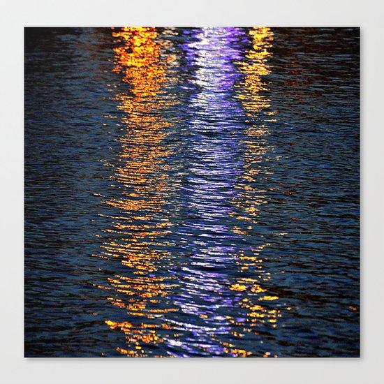 sea reflex in colors Canvas Print