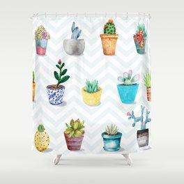FLOWER POTS Shower Curtain