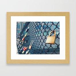 Heart on Lock  Framed Art Print