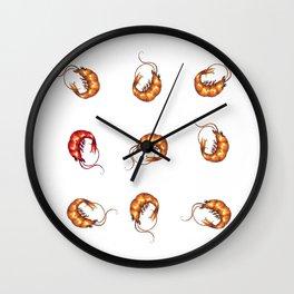 Shrimps Wall Clock