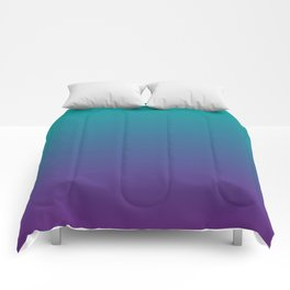 Ombre | Teal and Purple Comforters