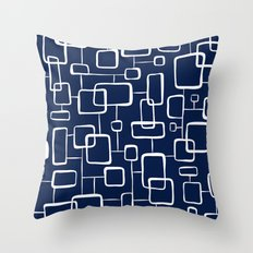 On The Quad - Navy Blue Throw Pillow