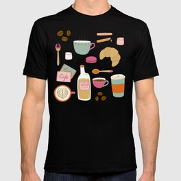Drawing Coffee in a Café T-shirt