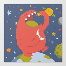 Star Eating Monster Canvas Print