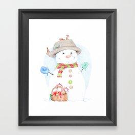 Hello, Mr. Snow Framed Art Print