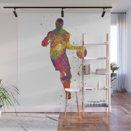 Basketball player 06 in watercolor Wall Mural