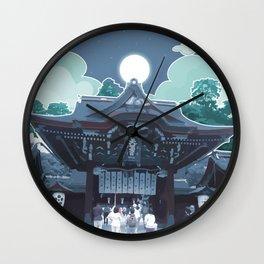 Night in Japan Wall Clock