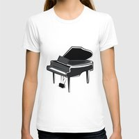 piano T-shirts featuring Piano by shopaholic chick