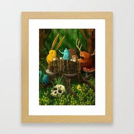 in the forest Framed Art Print
