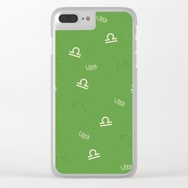 Libra Pattern - Green Clear iPhone Case