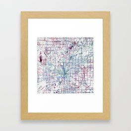 Indianapolis map Framed Art Print