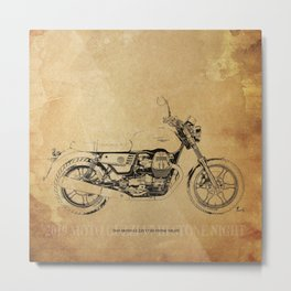 235-2019 Moto Guzzi V7 III Stone Night original gift for man cave Metal Print