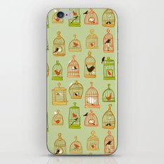 Bird Cages on Green iPhone & iPod Skin