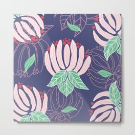 Blush Bloom Peony Lavender Metal Print