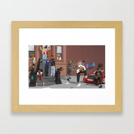 90's tribute Framed Art Print