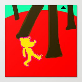 Drunk bear about to be abducted Canvas Print