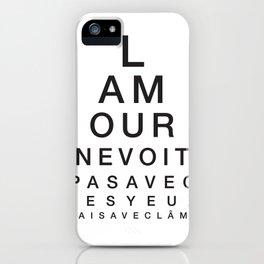 L'amour ne voit pas avec les yeux mais avec l'âme iPhone Case